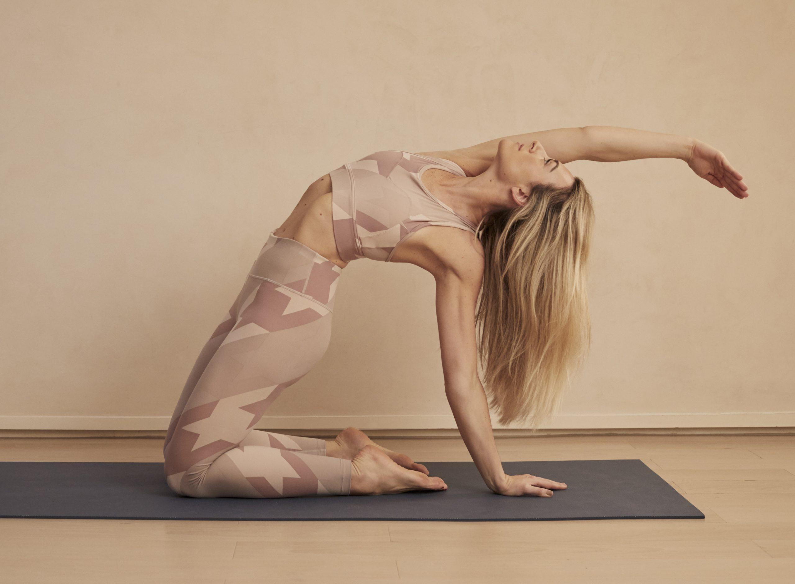 yoga woman arching back