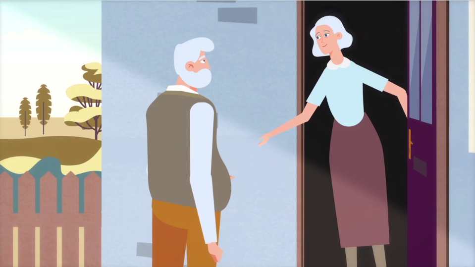 cartoon old people