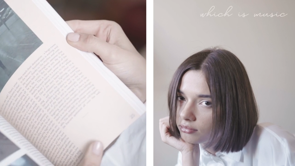 person and book
