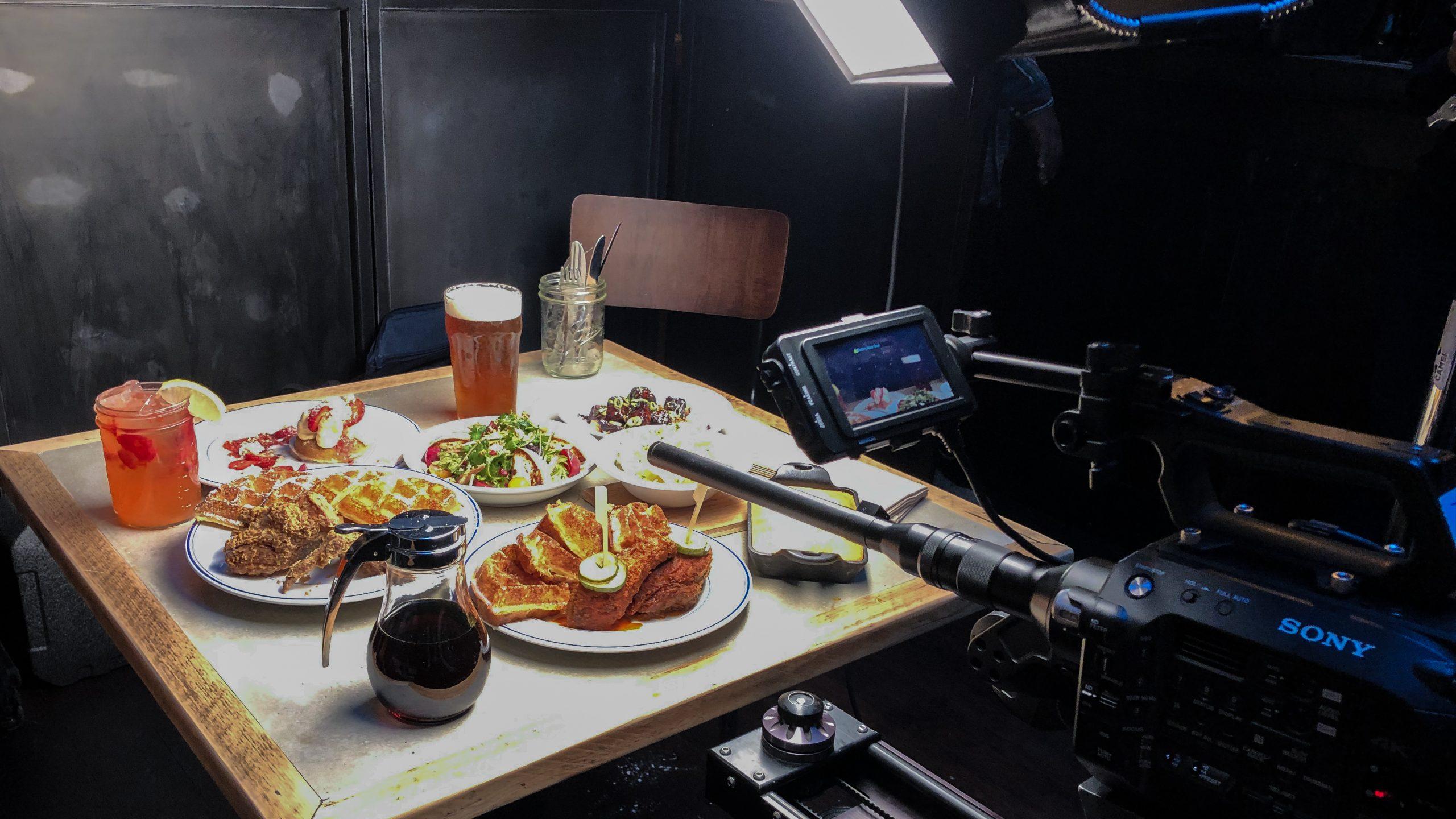 food being filmed