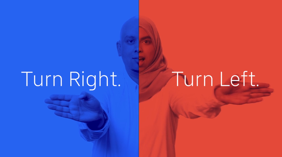Uber Lingoing - blue and red person with tagline