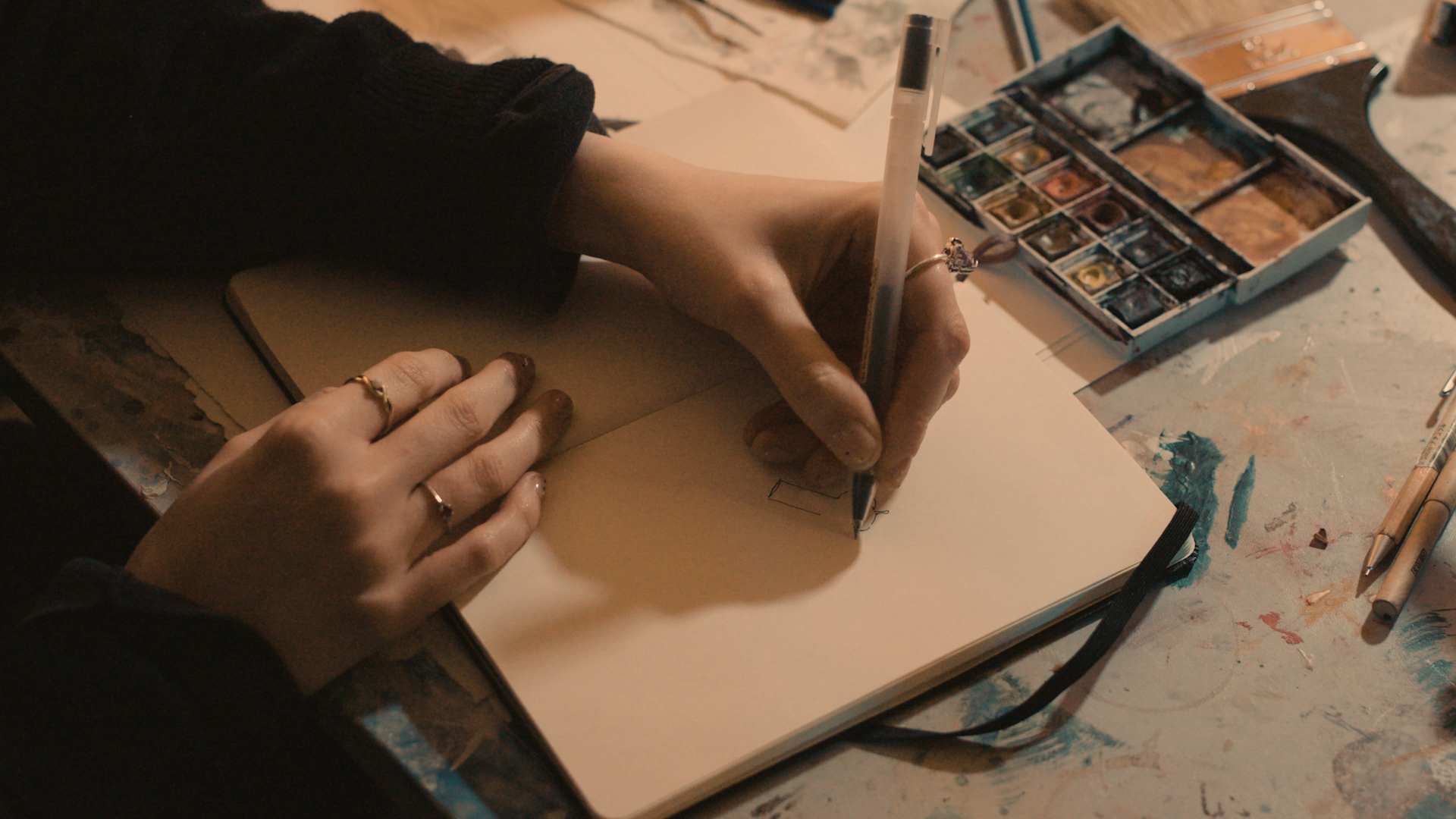 SCRT - close up of drawing