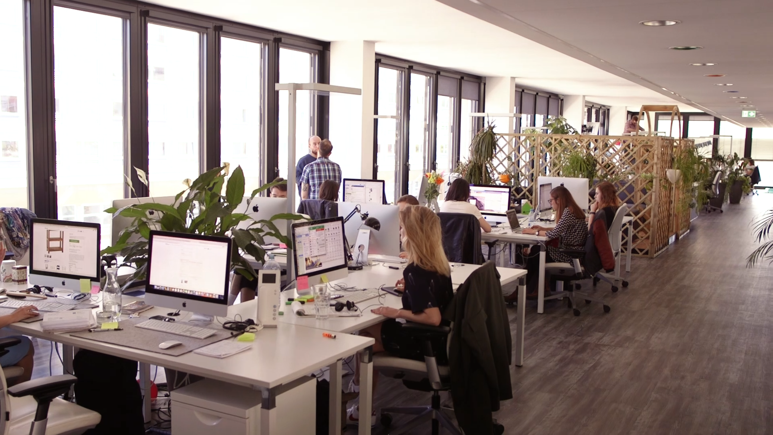 people in an office