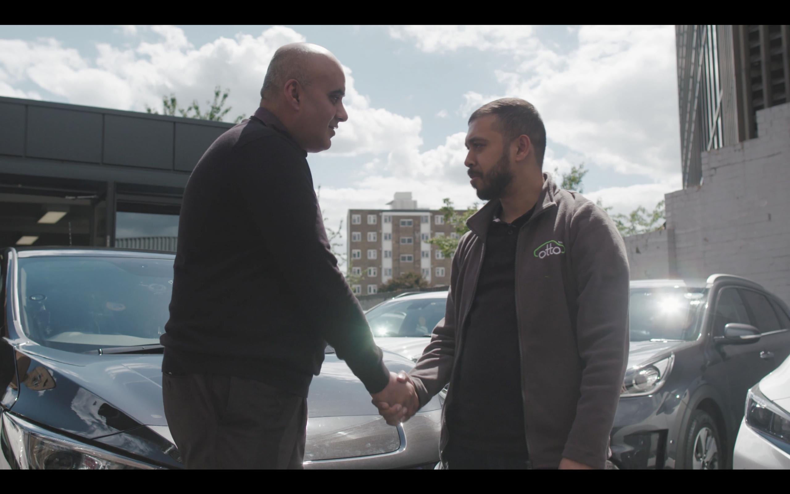 Uber Vehicles- people shaking hands