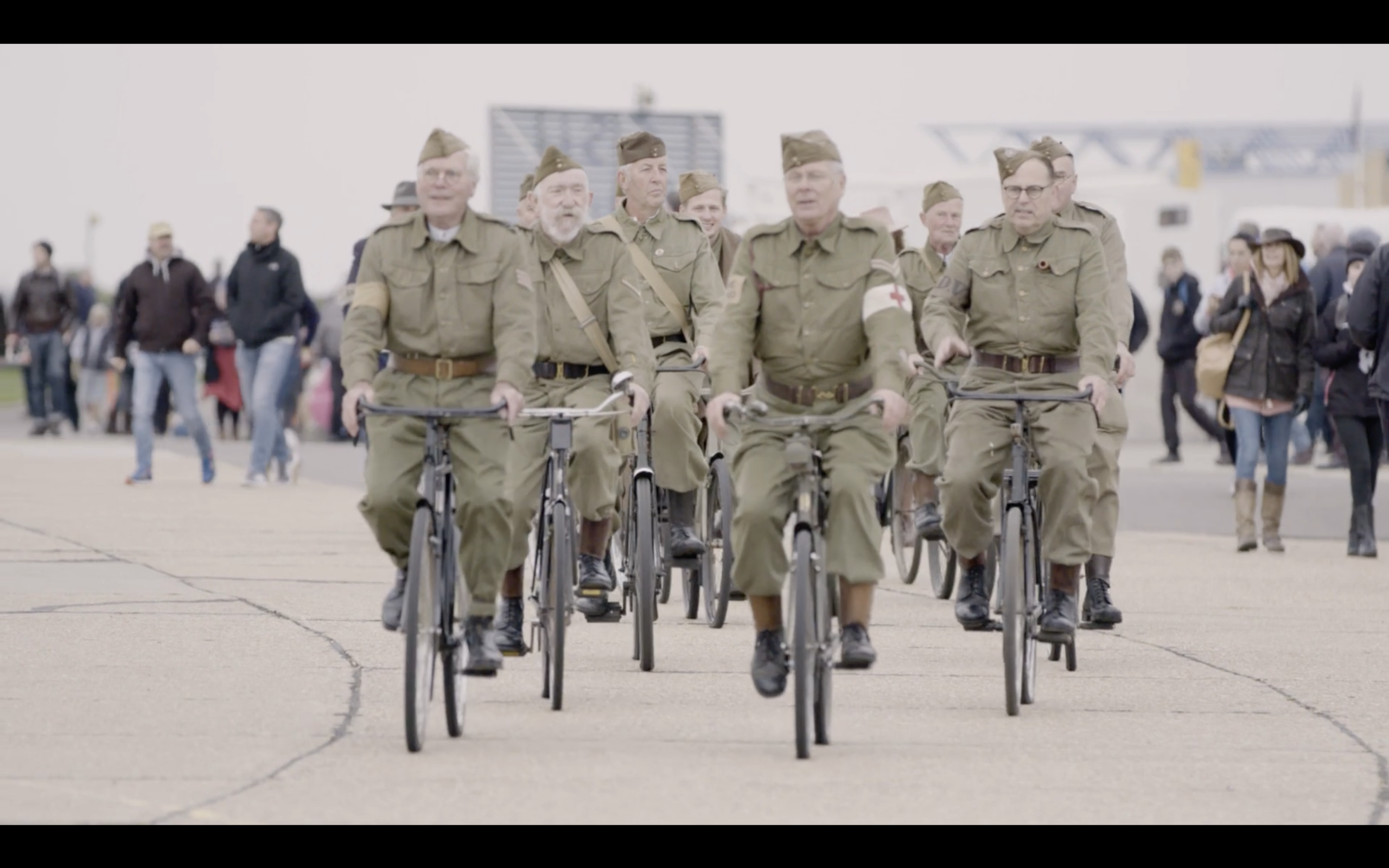 battle of Britain - group of people on bikes